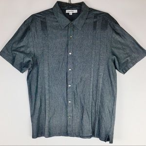 Calvin Klein Short Sleeve Gray Button Up Shirt